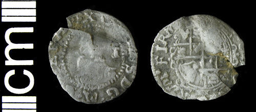 HAMP-A99E36: Post-medieval coin: Penny of Charles I