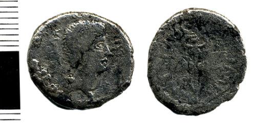 HAMP-AFD635: Roman coin: Republican denarius (Mark Antony)