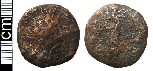 HAMP-B11193: Roman coin: Sestertius of Faustina II (probably)