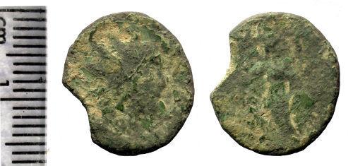 HAMP-B5F935: Roman coin: Radiate of Tetricus II (probably)