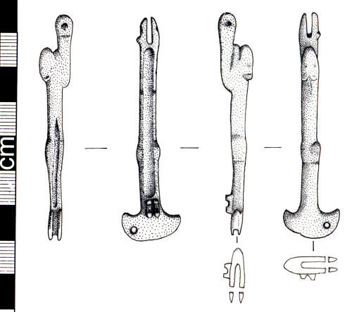 A resized image of Roman folding spoon (drawing)
