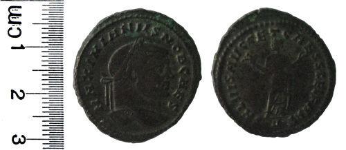 HAMP-C58406: Roman coin: Nummus of Galerius (as Caesar)
