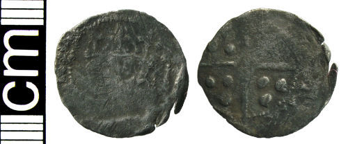 HAMP-C82D56: Medieval coin: Penny of uncertain 15th-century ruler