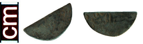 HAMP-CEB632: Medieval coin: Scottish cut halfpenny of either William I or Alexander II