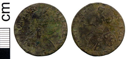 HAMP-CEB701: Post-medieval coin: Halfpenny of George III