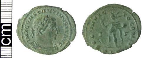 HAMP-D1A383: Roman coin: Nummus of Constantine I