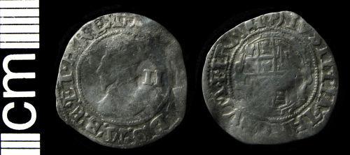 HAMP-D3F7E7: Post-medieval coin: Halfgroat of Charles I