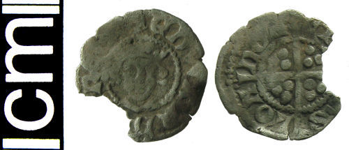 HAMP-D780F8: Medieval coin: Farthing of Edward I or II
