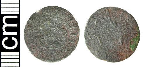 HAMP-DD1794: Post-medieval trade token farthing (Salisbury, Wiltshire)