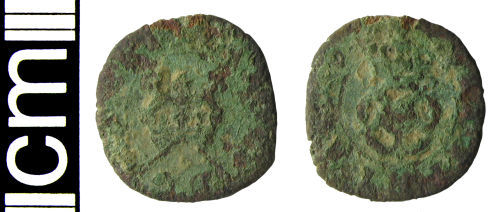 HAMP-DD84B4: Post-medieval coin: Rose farthing of Charles I