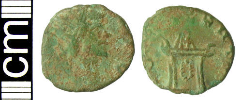 HAMP-E30C24: Roman coin: Irregular radiate copying Divus Claudius (II)