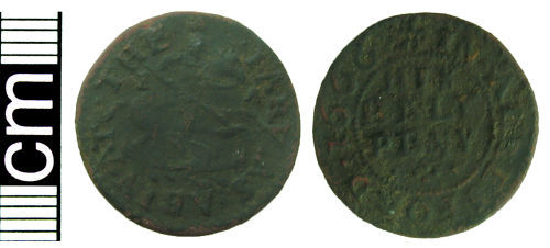 HAMP-F4A105: Post-medieval trade token halfpenny (Alresford, Hampshire)
