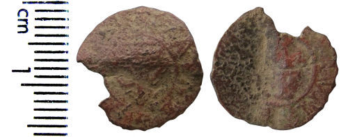 A resized image of Post-medieval trade token farthing (Romsey, Hampshire)