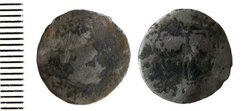 HAMP-F63887: Post-medieval coin: Halfgroat of Elizabeth I