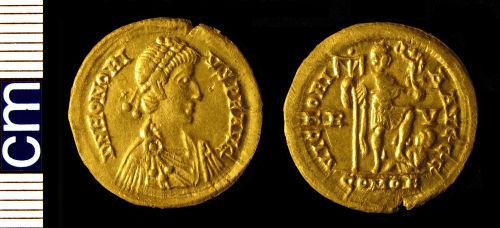 HAMP-F6F384: Roman coin: Solidus of Honorius