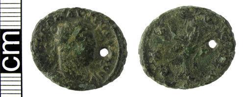 HAMP-FB76A7: Roman coin: Radiate of Carausius
