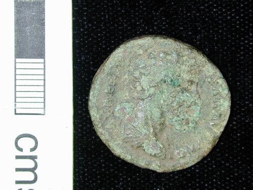 NARC-4CE317: Roman dupondius of Marcus Aurelius, obverse