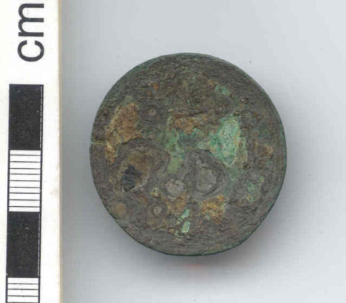 NARC-F2BE75: Early-medieval disc brooch, obverse