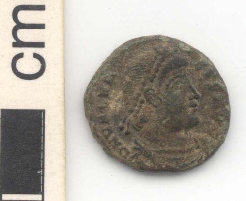 NARC-F8E111: Roman nummus of Valens, obverse