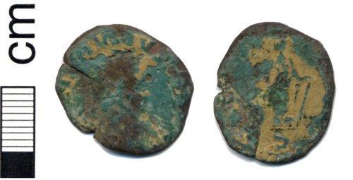 HAMP-004251: Roman coin: Radiate of Carausius