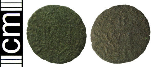 HAMP-3658E2: Post-medieval trade token farthing (Winchester, Hampshire)
