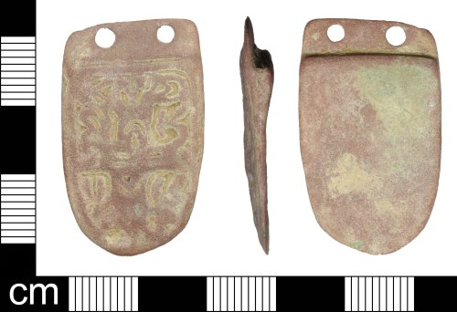 DEV-9AB065: Late early-medieval strap-end