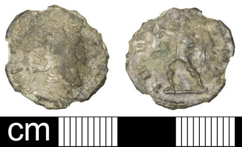 PAS-0513E7: Roman coin: Radiate of Victorinus