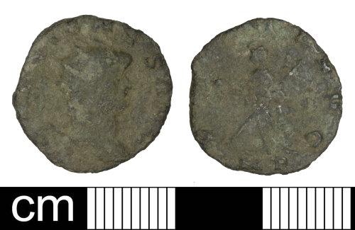 PAS-1393AD: Roman coin: Radiate of Gallienus (sole reign)