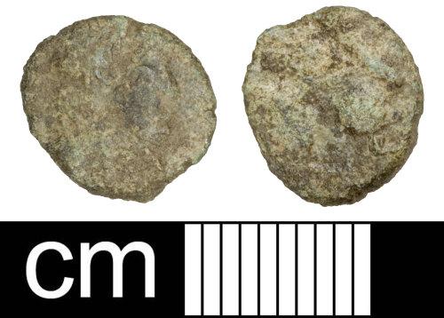PAS-29E99A: Roman coin: Contemporary copy of a nummus copying the House of Constantine