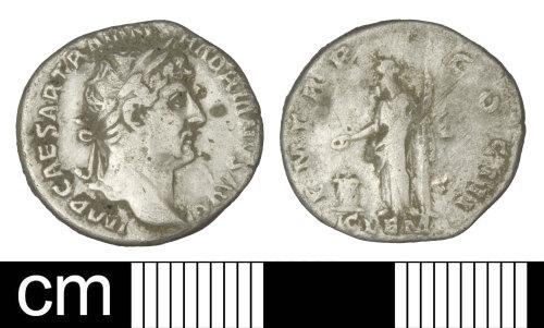 PAS-41AD93: Roman coin: Denarius of Hadrian