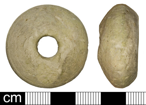 A resized image of Medieval (possibly) spindle whorl