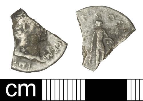 A resized image of Roman coin: Denarius of Trajan