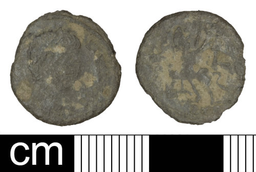 PAS-6C4F8D: Roman coin: Contemporary copy of a nummus copying the House of Constantine