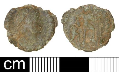 PAS-8C57D5: Roman coin: Nummus of Valentinian I