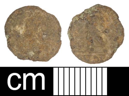 SOM-052255: Roman coin: Nummus of Arcadius