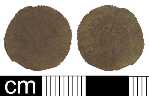 SOM-0F45A7: Post-medieval trade token farthing (Weymouth, Dorset)