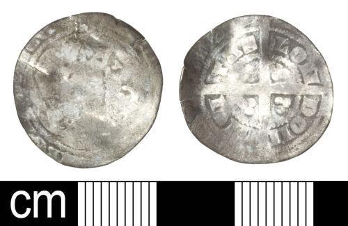 SOM-168C7A: Medieval coin: Halfgroat of Edward III