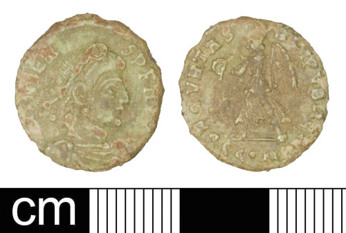 SOM-1B781C: Roman coin: Nummus of Valens