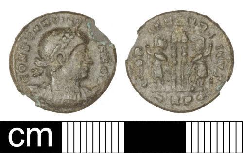 SOM-1BBE56: Roman coin: Nummus of Constantine II