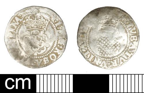SOM-376385: Post-medieval coin: Halfgroat of James I