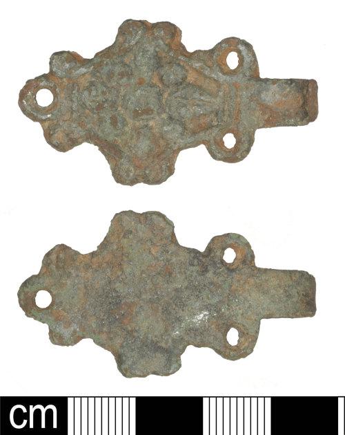 SOM-41EAF8: Post-medieval dress fastener (hook piece)
