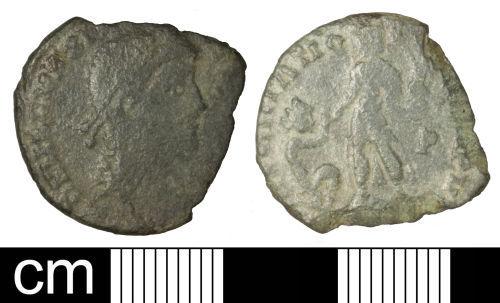 SOM-5C3666: Roman coin: Nummus of Magnus Maximus