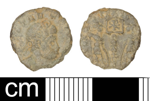 SOM-66D34C: Roman coin: Nummus of the House of Constantine