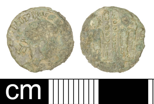 SOM-682A98: Roman coin: Nummus of the House of Constantine