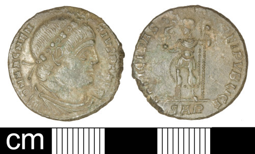 SOM-6B3DF0: Roman coin: Nummus of Magnentius