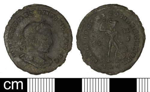 SOM-6BB314: Roman coin: Nummus of Constantine I