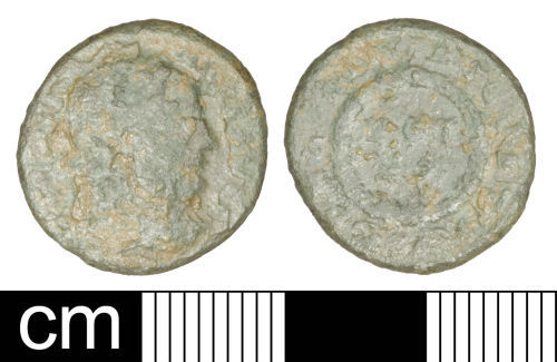 SOM-722D64: Roman coin: Nummus of Licinius I