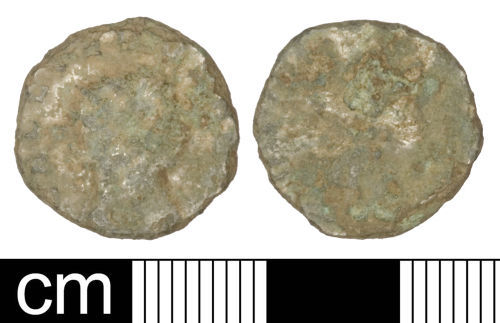 A resized image of Roman coin: Radiate of Gallienus (sole reign)
