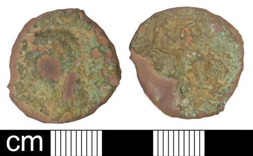 SOM-8C47D5: Roman coin: Irregular (contemporary copy) as copying Claudius I