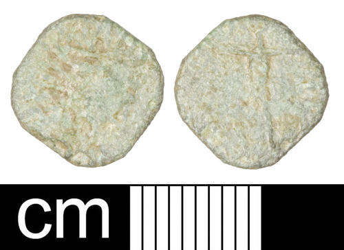 SOM-8CEF16: Roman coin: Irregular (barbarous) radiate copying uncertain 3rd-century ruler